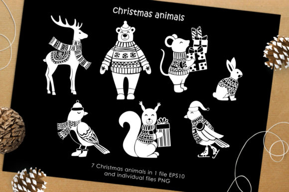 Print on Demand: Christmas Vector Graphic Set Graphic Illustrations By Nata Art Graphic - Image 3