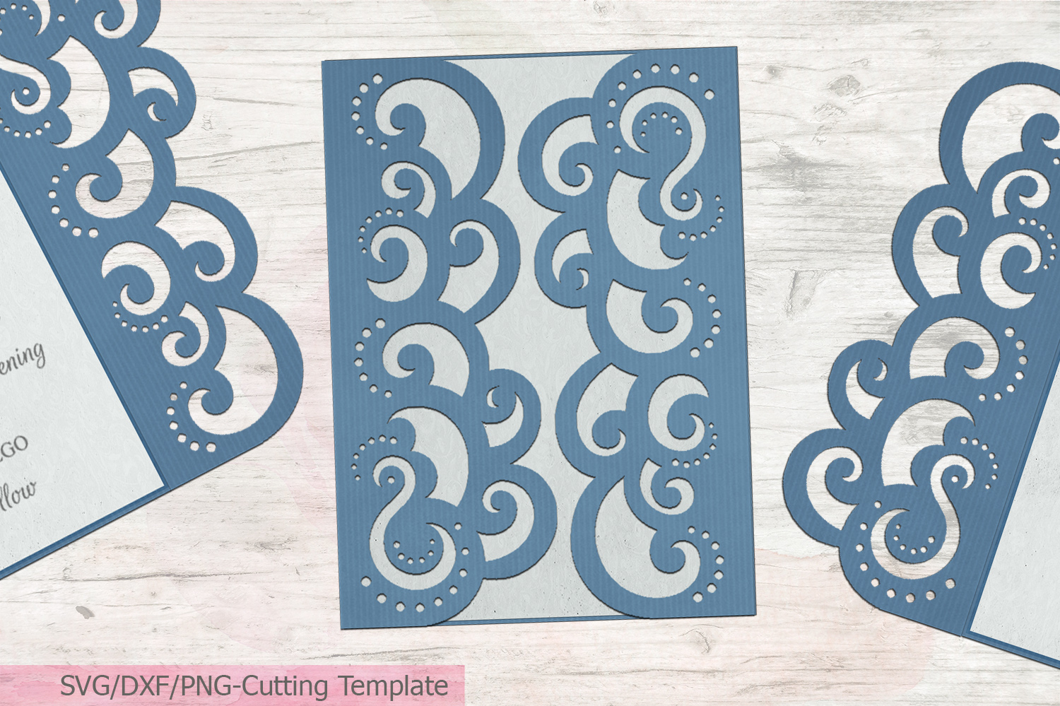 Download Free Quinceanera Gate Fold Wedding Invitation Graphic By Cornelia for Cricut Explore, Silhouette and other cutting machines.
