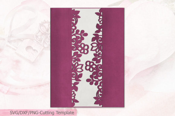Download Free Floral Gate Fold Wedding Invitation Svg Graphic By Cornelia SVG Cut Files