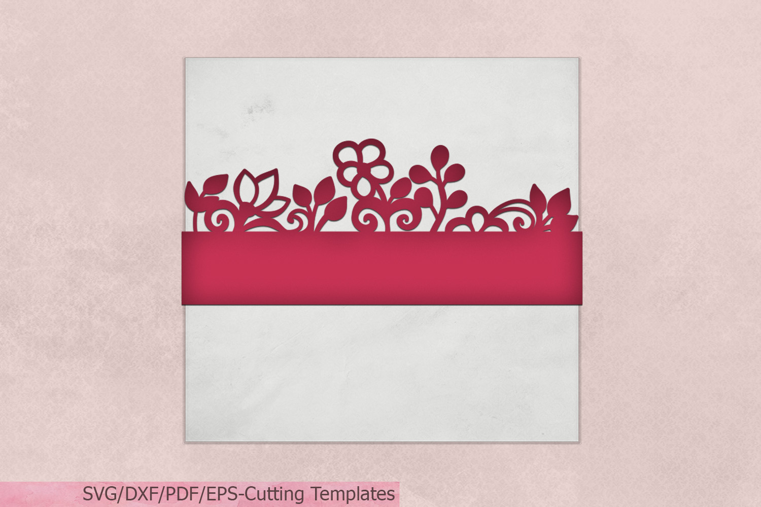 Floral Belly Band Gift Wrapper Graphic By Cornelia Creative