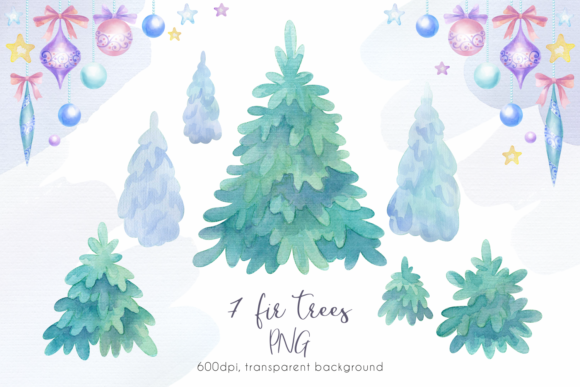 Print on Demand: Woodland Party. Watercolor Christmas Set Graphic Illustrations By Olga Belova - Image 4