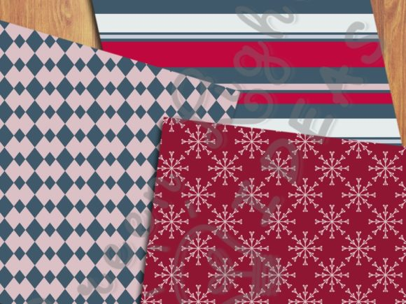 Christmas Holidays Scrabooking Papers Graphic Backgrounds By GreenLightIdeas - Image 5