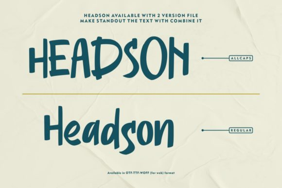 Print on Demand: Headson Display Font By Garisman Studio - Image 6