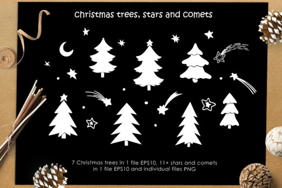 Print on Demand: Christmas Vector Graphic Set Graphic Illustrations By Nata Art Graphic - Image 7