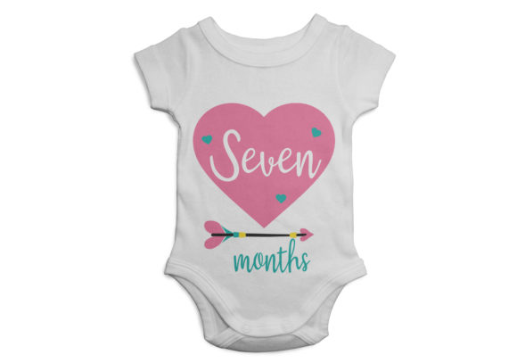 Print on Demand: Baby Heart - Arrow 1 Year Milestones Graphic Illustrations By CapeAirForce - Image 4
