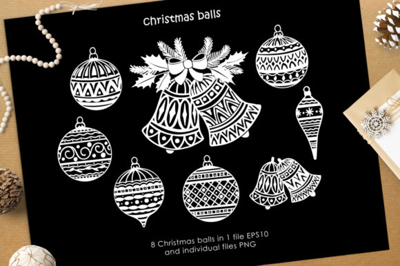 Print on Demand: Christmas Vector Graphic Set Graphic Illustrations By Nata Art Graphic - Image 8