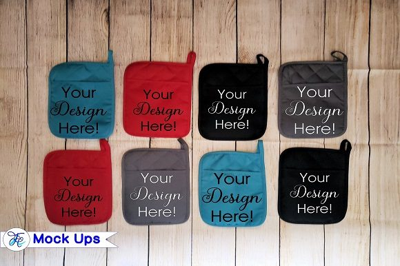 16 Potholders Mock Ups Graphic Product Mockups By Family Creations