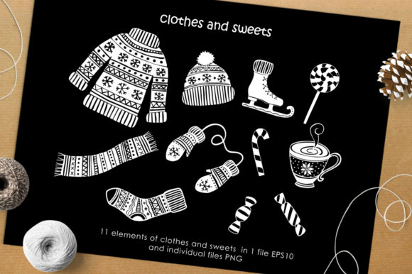 Print on Demand: Christmas Vector Graphic Set Graphic Illustrations By Nata Art Graphic - Image 9