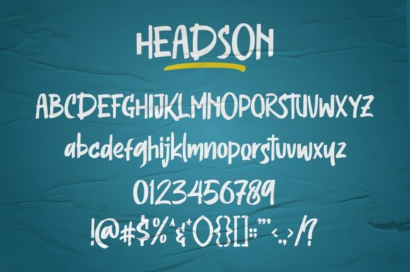 Print on Demand: Headson Display Font By Garisman Studio - Image 9