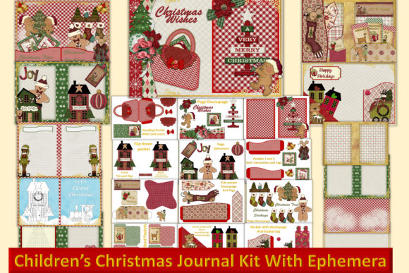 Print on Demand: Childrens Christmas Journal Kit Graphic Crafts By The Paper Princess