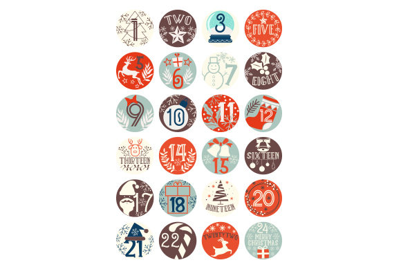 Advent Calendar Christmas Craft Cut File By Creative Fabrica Crafts
