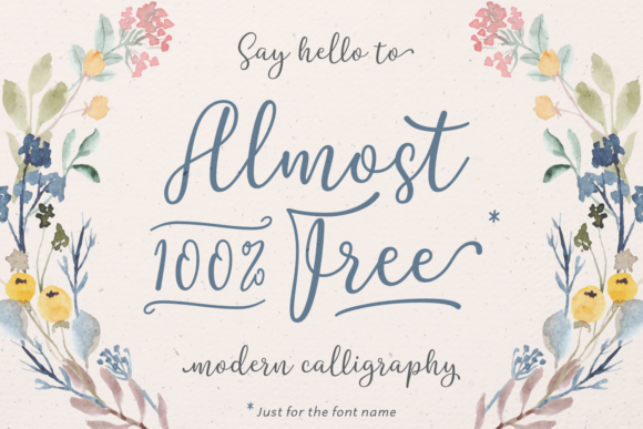 Print on Demand: Almost 100% Free Script & Handwritten Font By Situjuh - Image 1
