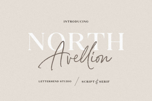 Print on Demand: North Avellion Duo Script & Handwritten Font By letterhend
