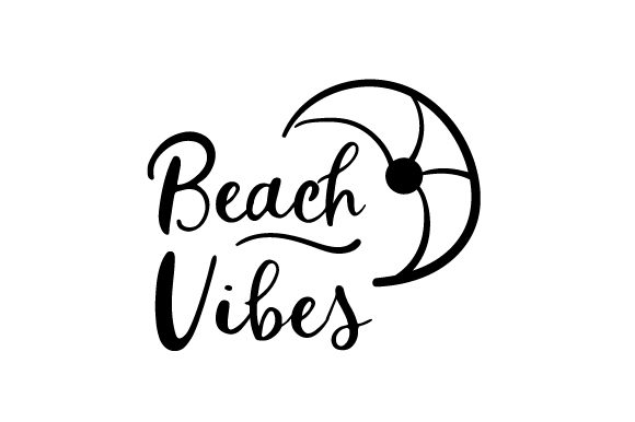 Download Free Beach Vibes With Beach Ball Svg Cut File By Creative Fabrica for Cricut Explore, Silhouette and other cutting machines.