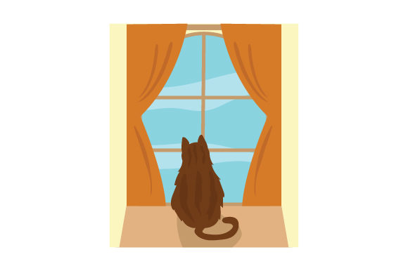 Download Free Cat Looking Out Window Svg Cut File By Creative Fabrica Crafts SVG Cut Files
