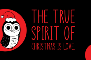 Print on Demand: Christmas Owl Display Font By Instagram Fonts 4