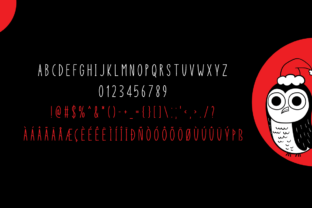 Print on Demand: Christmas Owl Display Font By Instagram Fonts 5