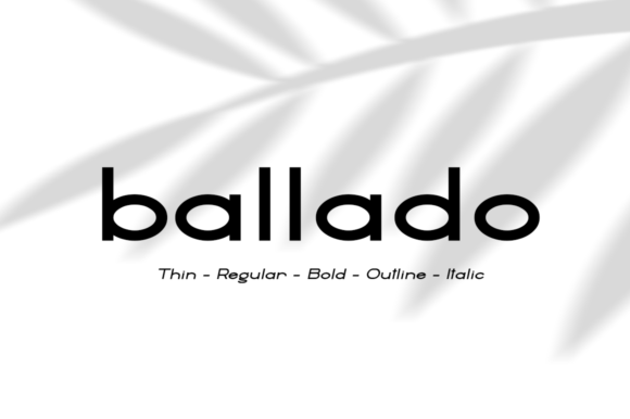 Print on Demand: Ballado Sans Serif Font By Haksen