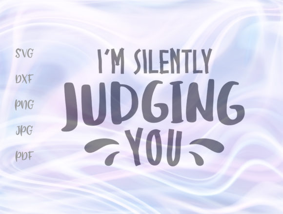 I'm Silently Judging You Sarcastic Sign Graphic By Digitals by Hanna