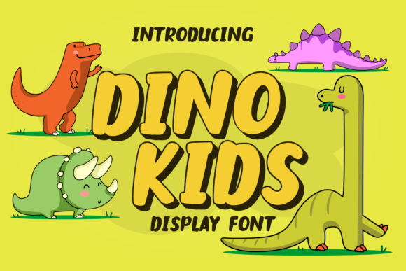 Print on Demand: Dino Kids Display Font By LetterBeary