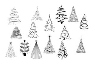 15 Holiday / Christmas Trees Graphic By capeairforce