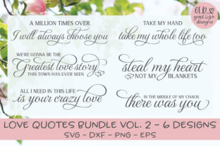 Love Quotes Bundle Vol. 2 Graphic By GraceLynnDesigns