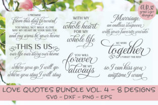 Love Quotes Bundle Vol. 4 Graphic By GraceLynnDesigns