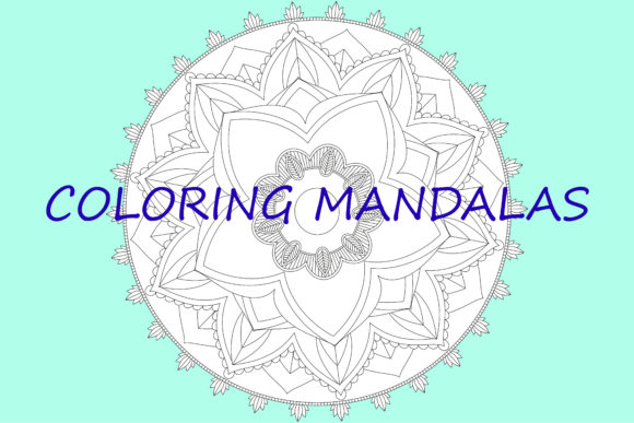 Print on Demand: Mandala Para Colorear Graphic Illustrations By Ana Carmen Modrego Lacal - Image 1