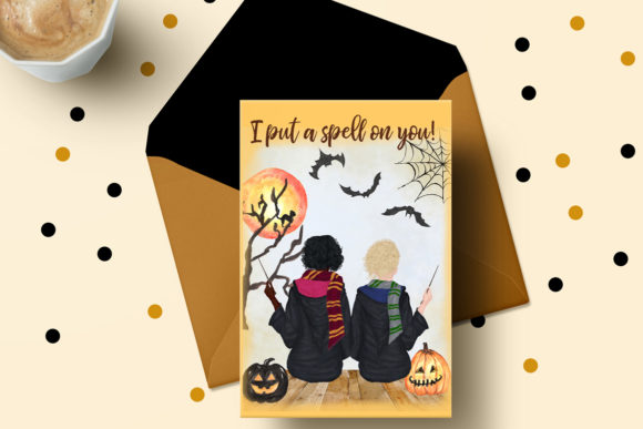 Halloween Girls Clipart Graphic Illustrations By LeCoqDesign - Image 7