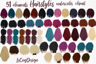 Print on Demand: Hairstyles Clipart,Girls Clipart, Dreads Graphic Illustrations By LeCoqDesign