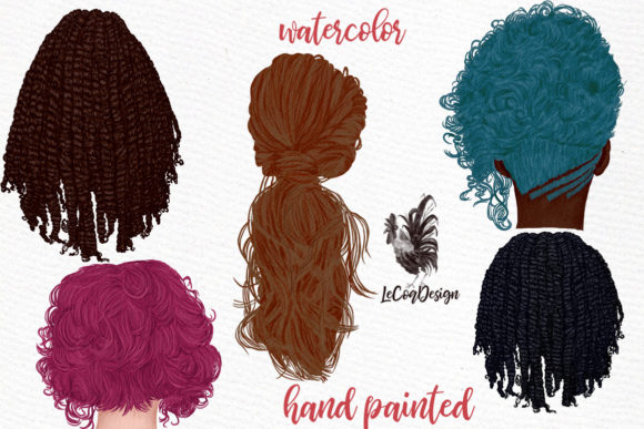 Hairstyles Clipart,Girls Clipart, Dreads Graphic Illustrations By LeCoqDesign - Image 3