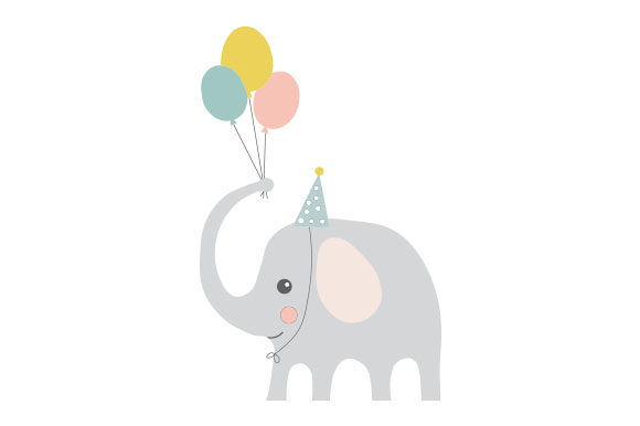 Download Free Party Elephant Svg Cut File By Creative Fabrica Crafts for Cricut Explore, Silhouette and other cutting machines.