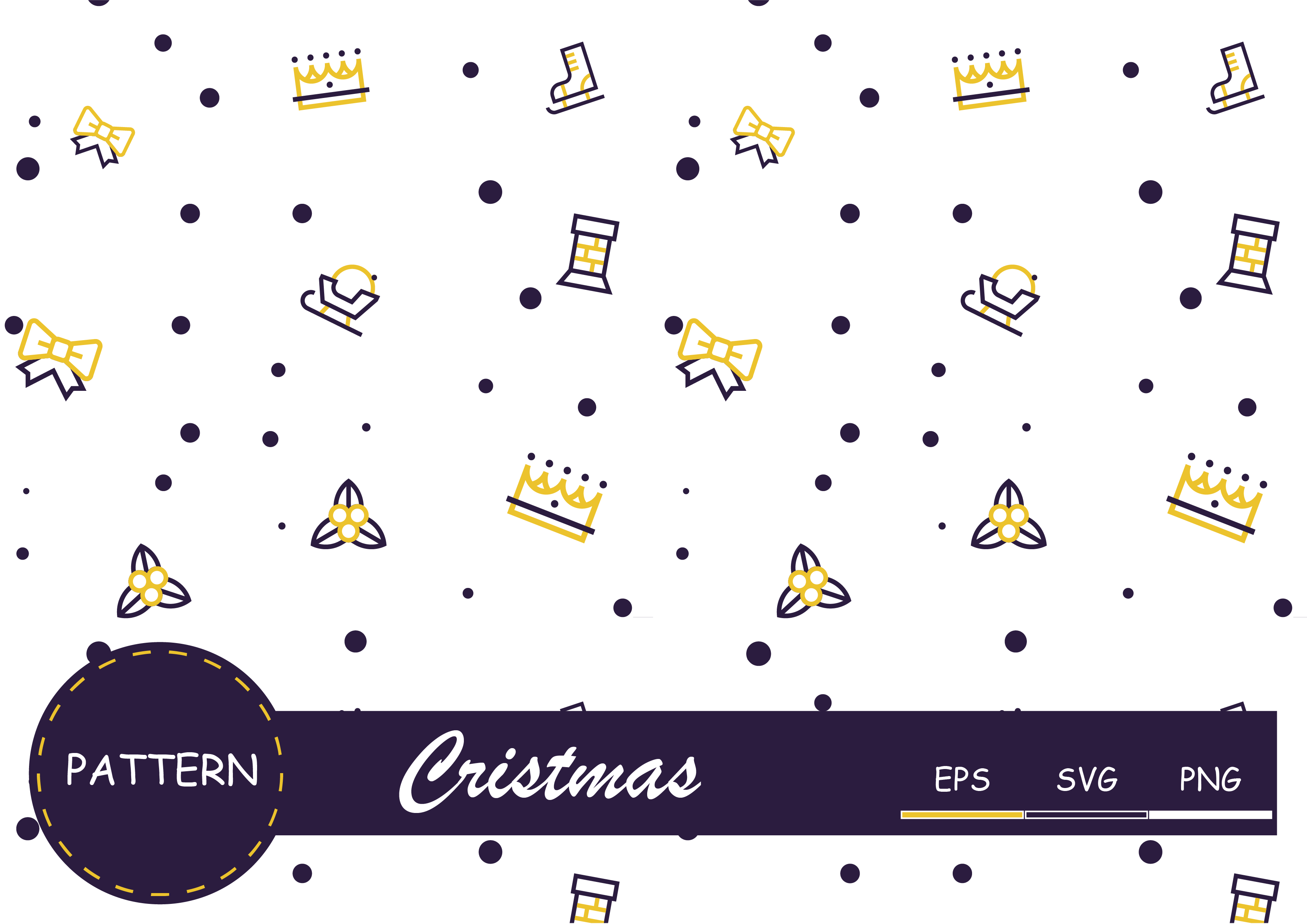 Download Free Pattern Cristmas Graphic By Raihanmubarok48 Creative Fabrica for Cricut Explore, Silhouette and other cutting machines.