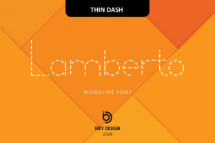 Print on Demand: Lamberto Thin Dash Display Font By ibeydesign