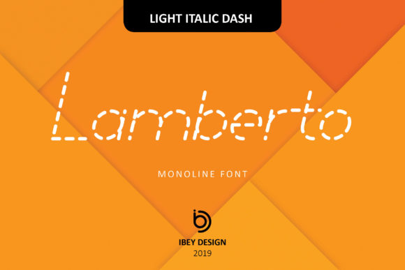 Print on Demand: Lamberto Light Italic Dash Display Font By ibeydesign