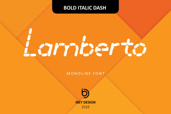 Print on Demand: Lamberto Bold Italic Dash Display Font By ibeydesign