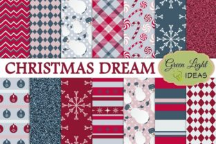 Christmas Holidays Scrabooking Papers Graphic By GreenLightIdeas
