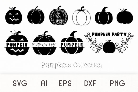 Print on Demand: Pumpkin - Pumpkins Collection SVG Graphic Crafts By Dasagani