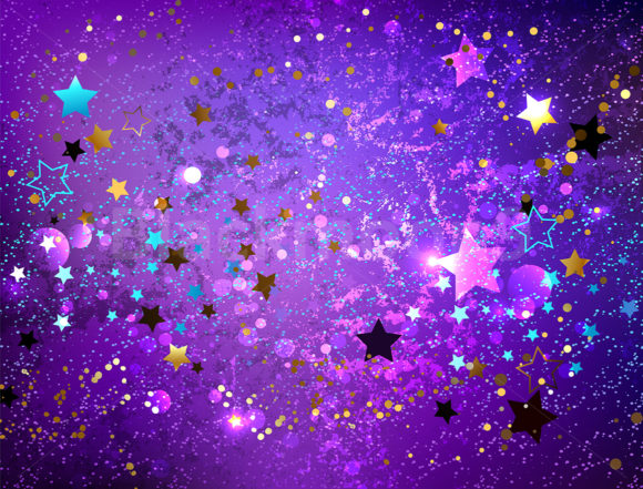 Purple Background with Stars Graphic Backgrounds By Blackmoon9