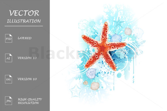 Red Starfish Graphic Illustrations By Blackmoon9