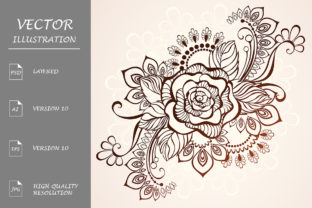 Rose Henna Graphic Illustrations By Blackmoon9