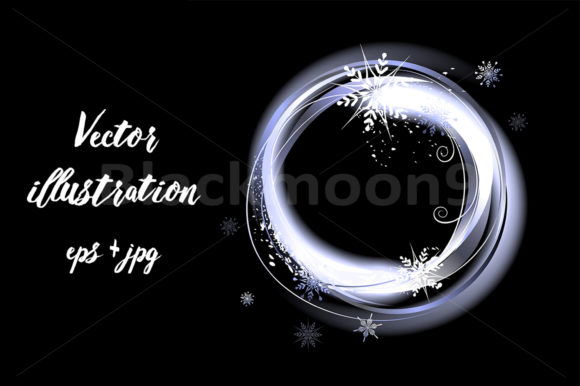 Download Free Round Snow Banner Graphic By Blackmoon9 Creative Fabrica for Cricut Explore, Silhouette and other cutting machines.
