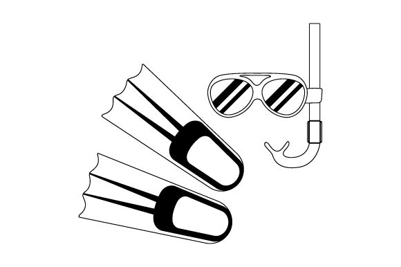 Download Free Snorkle And Flippers Svg Plotterdatei Von Creative Fabrica for Cricut Explore, Silhouette and other cutting machines.