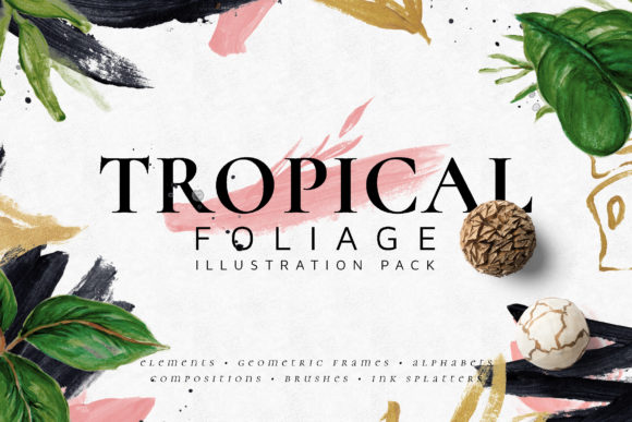 Tropical Foliage Illustration Pack Graphic By Blue Robin Design Shop