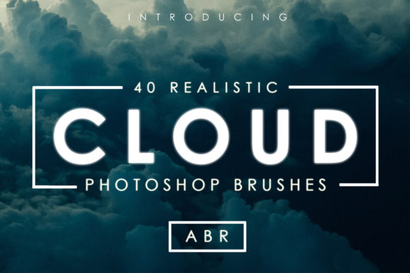 Print on Demand: 40 Cloud Brushes for Photoshop Graphic Brushes By denestudios