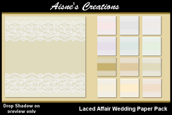 Print on Demand: Laced Affair Wedding Paper Pack Graphic Backgrounds By Aisne