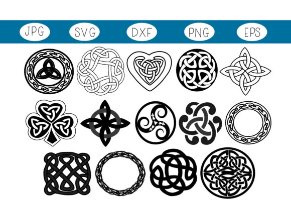 Download Free Celtic Irish Symbols Graphic By Capeairforce Creative Fabrica for Cricut Explore, Silhouette and other cutting machines.