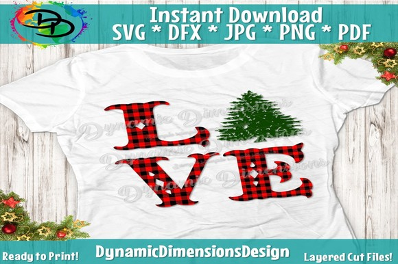 Download Free Christmas Love Christmas Graphic By Dynamicdimensions for Cricut Explore, Silhouette and other cutting machines.
