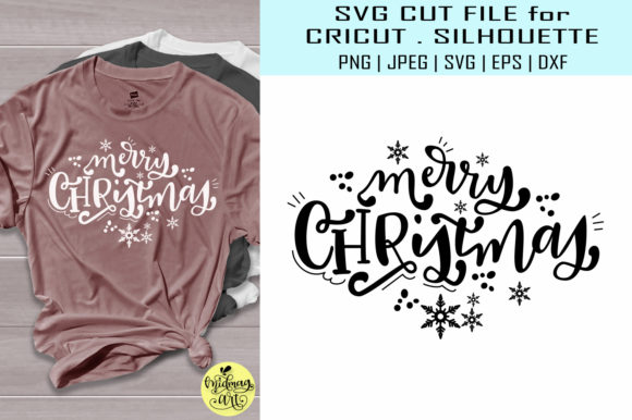 Download Free Merry Christmas Christmas Graphic By Midmagart Creative Fabrica for Cricut Explore, Silhouette and other cutting machines.