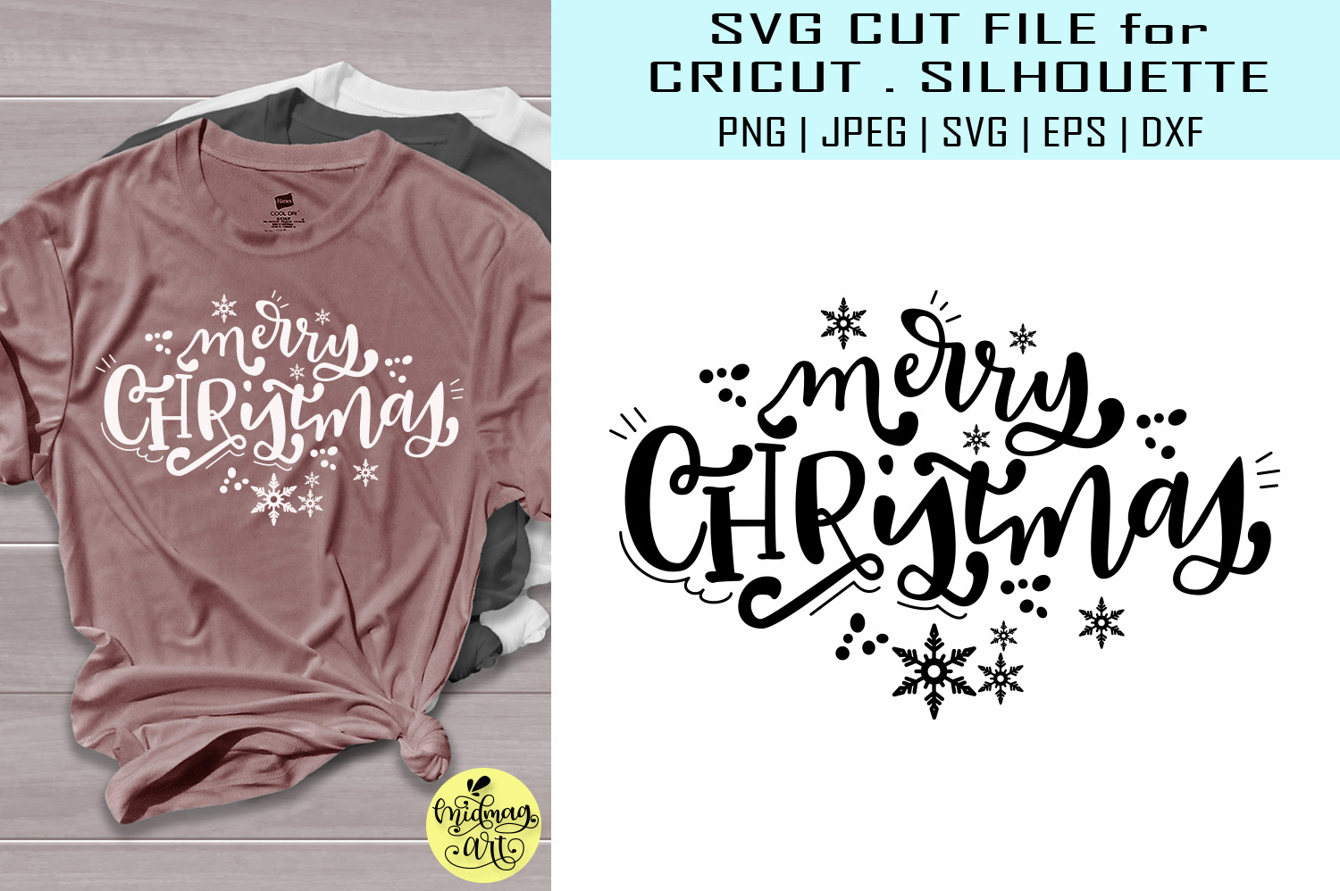 Download Free Merry Christmas Svg Christmas Svg Graphic By Midmagart for Cricut Explore, Silhouette and other cutting machines.